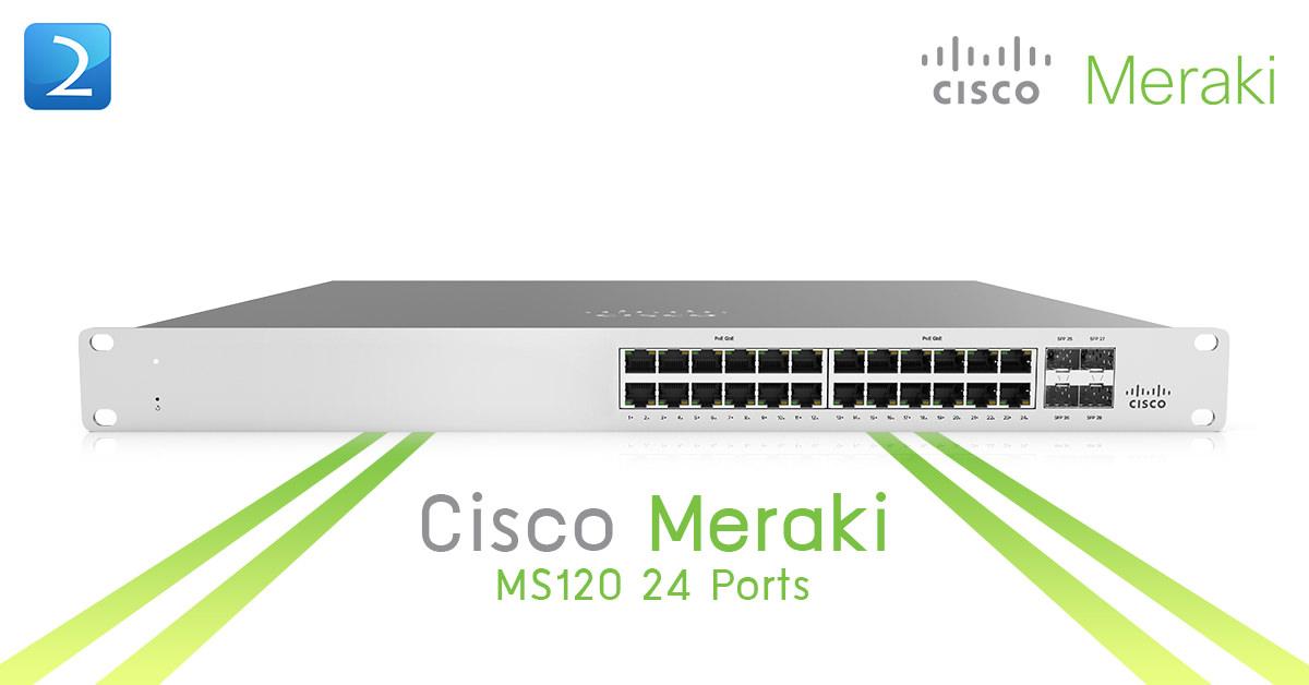 Cisco Meraki MS120 24 Ports 370Watt